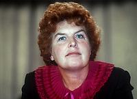 Joan Lestor, MP, Labour Party, Eton &amp; Slough, UK, September, 1982, 198209000180a<br /><br />Copyright Image from Victor Patterson, 54 Dorchester Park, <br />Belfast, UK, BT9 6RJ<br /><br />t1: +44 28 9066 1296 (from Rep of Ireland 048 9066 1296)<br />t2: +44 28 9002 2446 (from Rep of Ireland 048 9002 2446)<br />m: +44 7802 353836<br /><br />victorpatterson@me.com<br />www.victorpatterson.com<br /><br />Please see my Terms and Conditions of Use at VICTORPATTERSON.COM. It is IMPORTANT that you familiarise yourself with them.<br /><br />Images used on the Internet must be visibly watermarked i.e. &copy;VICTORPATTERSON.COM within the body of the image and copyright metadata must not be deleted. Images used on the Internet have a size restriction of 4kbs and are chargeable at the then current NUJ rates.<br /><br />This image is only available for the use of the download recipient i.e. television station, newspaper, magazine, book publisher, etc, and must not be passed on to any third party. It is also downloaded on condition that each and every usage is notified within 7 days to victorpatterson@me.com<br /><br />The right of Victor Patterson to be identified as the author is asserted in accordance with The Copyright Designs And Patents Act (1988).