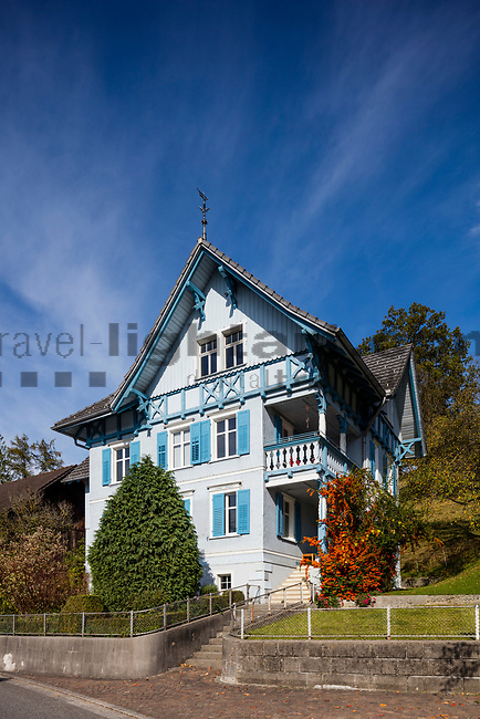 Old wooden house, Eschen, Rheintal, Rhine-valley, Liechtenstein.