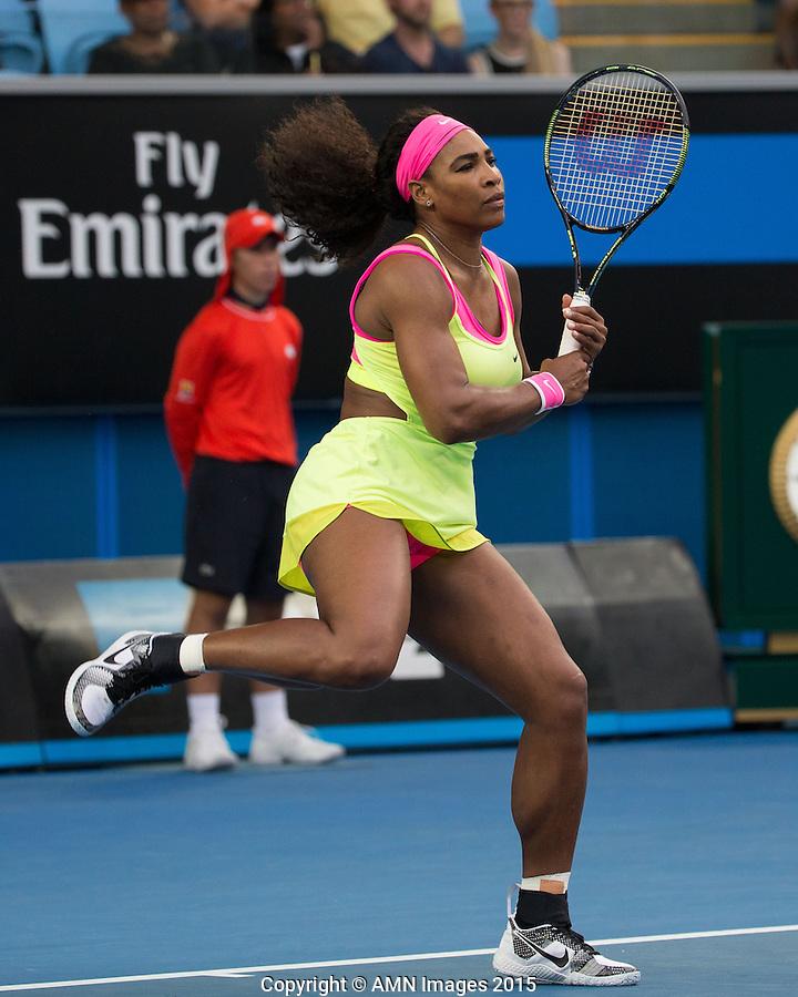 Serena Williams (USA)<br /> <br /> Tennis - Australian Open 2015 - Grand Slam -  Melbourne Park - Melbourne - Victoria - Australia  - 20 January 2015. <br /> &copy; AMN IMAGES