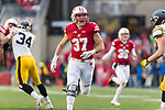 Wisconsin Badgers running back Garrett Groshek (37) during an NCAA College Big Ten Conference football game against the Iowa Hawkeyes Saturday, November 11, 2017, in Madison, Wis. The Badgers won 38-14. (Photo by David Stluka)