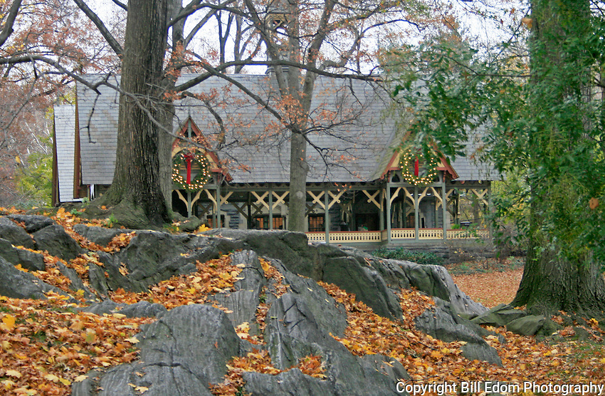 This is an image of the  Dairy in Central Park.
