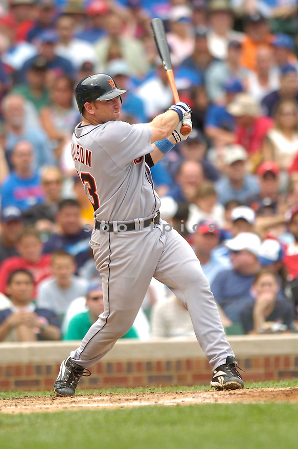 Vance Wilson, of the  Detroit Tigers, during their game against the Chicago Cubs on June 18, 2006 in Chicago...Tigers win 12-3..David Durochik / SportPics