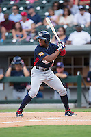 Corey Ray (6) of the US Collegiate National Team at bat against the Cuban National Team at BB&T BallPark on July 4, 2015 in Charlotte, North Carolina.  The United State Collegiate National Team defeated the Cuban National Team 11-1.  (Brian Westerholt/Four Seam Images)