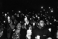 A candlelight vigil is held for the cause of affordable housing in Brooklyn, NY on November 18, 2004.