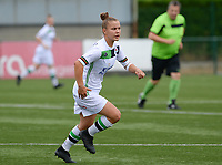 20180815 - Zulte , BELGIUM : OHL's Karlijn Knapen pictured during a friendly pre season soccer match between the women teams of Zulte Waregem Dames and OHL Oud Heverlee Leuven Dames  , Wednesday 15 August 2018 . PHOTO DAVID CATRY | SPORTPIX.BE