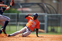Houston Astros Daz Cameron (13) during an instructional league game against the Atlanta Braves on October 1, 2015 at the Osceola County Complex in Kissimmee, Florida.  (Mike Janes/Four Seam Images)