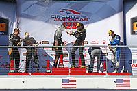 IMSA Continental Tire SportsCar Challenge<br /> Advance Auto Parts SportsCar Showdown<br /> Circuit of The Americas, Austin, TX USA<br /> Friday 5 May 2017<br /> 76, McLaren, McLaren GT4, GS, Matt Plumb, Paul Holton, 77, McLaren, McLaren GT4, GS, Nico Rondet, Mathew Keegan, 12, Porsche, Porsche Cayman GT4, GS, Cameron Cassels, Trent Hindman, podium<br /> World Copyright: Phillip Abbott<br /> LAT Images<br /> ref: Digital Image abbott_COTA_0517_7683