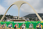 RIO DE JANEIRO - 10/9/2016:  Karen Van Nest and Kevin Evans compete in the Women's Individual Compound - Open at the Sambodromo during the Rio 2016 Paralympic Games. (Photo by Matthew Murnaghan/Canadian Paralympic Committee