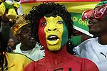 13 JUN 2010:  Ghana fans celebrate their team's win.  The Serbia National Team played the Ghana National Team at Loftus Versfeld Stadium in Tshwane/Pretoria, South Africa in a 2010 FIFA World Cup Group D match.