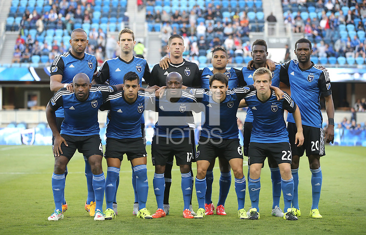 San Jose, California - July 10, 2015: San Jose Earthquakes vs Houston Dynamo at Avaya Stadium Friday night. The Dynamo defeated the Earthquakes 2-0.