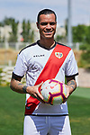 Raul de Tomas during his Official presentation as new player of Rayo Vallecano at Ciudad Deportiva Rayo Vallecano in Madrid, Spain. September 11, 2018. (ALTERPHOTOS/A. Perez Meca)