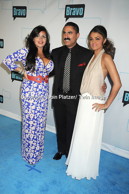"Shahs of Sunset cast,Mercedes Javid, Reza Farahan and Golnessa ""GG"" Gharachedahi attends the Bravo Upfront on April 4, 2012 at 548 West 22nd Street in New York City."