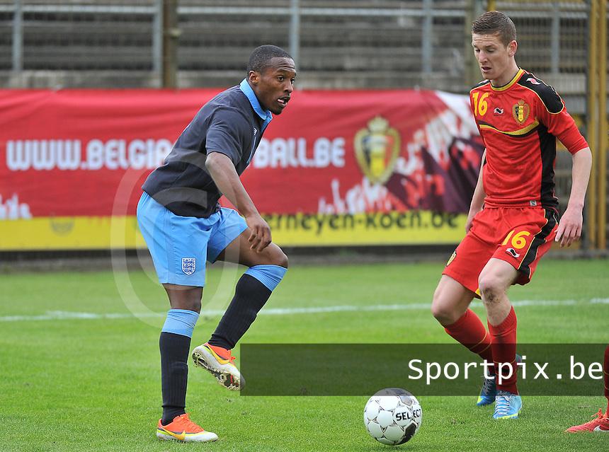 Belgium U19 - England U19 : Callum Harriott (11) and Giani De Neve (16).foto DAVID CATRY / Nikonpro.be