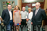 Enjoying the Na Gaeil GAA  25 years Celebration  of their clubhouse on Saturday were l-r  Morgan Sheehy, Agnes Sheehy, Micheal Herlihy, Cathy Carey and Tim Lynch