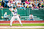 25 July 2017: Vermont Lake Monsters designated hitter Jordan Devencenzi in action against the Tri-City ValleyCats at Centennial Field in Burlington, Vermont. The Lake Monsters defeated the ValleyCats 11-3 in NY Penn League action. Mandatory Credit: Ed Wolfstein Photo *** RAW (NEF) Image File Available ***