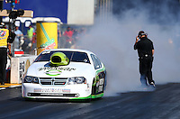Jul. 26, 2013; Sonoma, CA, USA: NHRA pro stock driver Deric Kramer during qualifying for the Sonoma Nationals at Sonoma Raceway. Mandatory Credit: Mark J. Rebilas-