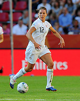 Lauren Cheney of team USA during the FIFA Women's World Cup at the FIFA Stadium in Dresden, Germany on June 28th, 2011.