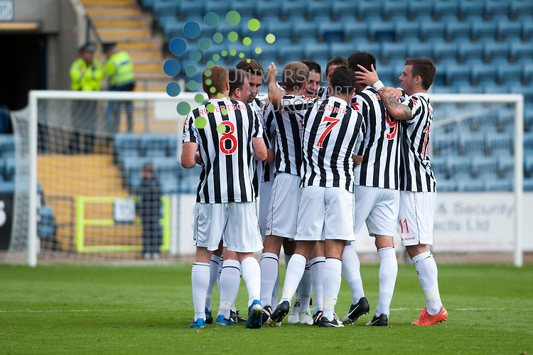 St Mirren players congratulate Kenny McLean on opening the scoring...Dundee and St Mirren contest their  SPL match at Dens Park in Dundee on Saturday 11th August. Fraser Stephen / Universal News & Sport (Scotland)