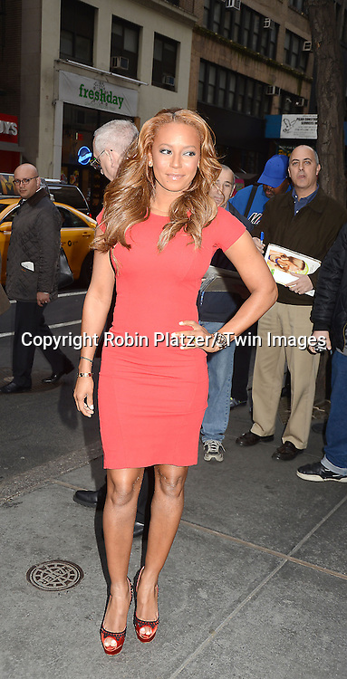 "Mel B  arrives to the ""America's Got Talent""  New York Auditions on April 8, 2013 at the Today Show in New York City. ."