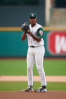 Fort Wayne TinCaps starting pitcher Austin Smith (9) gets ready to deliver a pitch during the second game of a doubleheader against the Great Lakes Loons on May 11, 2016 at Parkview Field in Fort Wayne, Indiana.  Great Lakes defeated Fort Wayne 5-0.  (Mike Janes/Four Seam Images)