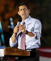 Republican vice presidential nominee Paul Ryan rallied a crowd of about 1,500 during a campaign stop Thursday evening at the Crutchfield Corporation in Albemarle County, Va.