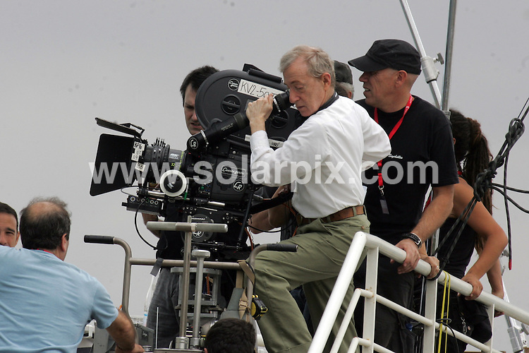 **ALL ROUND PICTURES FROM SOLARPIX.COM**.**WORLDWIDE SYNDICATION RIGHTS**.Woody Allen and Scarlett Johansson on set in Barcelona filming Woody Allen's latest feature 'Midnight in Barcelona' - 9th July 2007..This pic: Woody Allen..JOB REF:    4303   MER        DATE: 17_07_2007.**MUST CREDIT SOLARPIX.COM OR DOUBLE FEE WILL BE CHARGED* *UNDER NO CIRCUMSTANCES IS THIS IMAGE TO BE REPRODUCED FOR ANY ONLINE EDITION WITHOUT PRIOR PERMISSION*