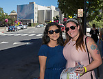 Skye and Mariela during the Reno Wine Walk in downtown Reno on Saturday, June 17, 2017.