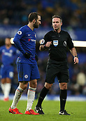 2nd February 2019, Stamford Bridge, London, England; EPL Premier League football, Chelsea versus Huddersfield Town; Gonzalo Higuain of Chelsea talking to Referee Paul Tierney