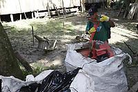 """Belém, Pará, Brasil, Cidade. Retranca:  CATAMOR/ NA MARÉ. Gancho: A Associação Amigos de Belém promove um grande mutirão de limpeza que ocorrerá na ilha do Combu, no restaurante Na Maré, e dia 16 no Marajó, na cidade de Joanes. Todos os resíduos recolhidos serão encaminhados para o """"Reciclômetro"""", que vai mensurar a quantidade de material recolhido nas áreas de atuação. As atividades serão realizadas com o apoio de 40 voluntários.. LocaL: Ilha do Combú. Data: 15-06-2019. Foto: Mauro Ângelo/ Diário do Pará."""