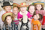 Cowboys and girls: Enjoying the Cow Poke Crafts at the Listowel Christian Fellowship Avalanches Ranch Kids Camp at.the girls school in Listowel on Friday were Fallon OSullivan, Brendan OShea, Maria Sheehy, Ciara and Maeve Gallagher,.Katie OShea and Clodagh Sheehy.