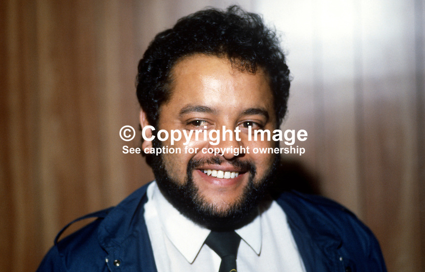 Louis Scott, ex-UDA section commander, now Independent Socialist politician, Belfast, N Ireland, UK, 19840124LS..Copyright Image from Victor Patterson, 54 Dorchester Park, Belfast, UK, BT9 6RJ..Tel: +44 28 9066 1296.Mob: +44 7802 353836.Voicemail +44 20 8816 7153.Skype: victorpattersonbelfast.Email: victorpatterson@me.com.Email: victorpatterson@ireland.com (back-up)..IMPORTANT: If you wish to use this image or any other of my images please go to www.victorpatterson.com and click on the Terms & Conditions. Then contact me by email or phone with the reference number(s) of the image(s) concerned.
