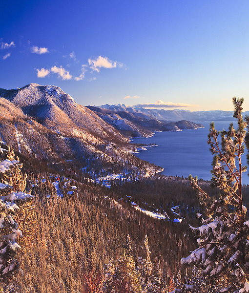 Lake Tahoe Scenic East Shore Winter