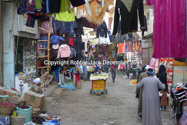 The Sharia Souk in Luxor.The town of Luxor occupies the eastern part of a great city of antiquity which the ancient Egytians called Waset and the Greeks named Thebes.