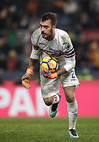Calcio, Serie A: AS Roma - Sampdoria, Roma, stadio Olimpico, 28 gennaio 2018.<br /> Sampdoria's goalkeeper Emiliano Viviano in action during the Italian Serie A football match between AS Roma and Sampdoria at Rome's Olympic stadium, January 28, 2018.<br /> UPDATE IMAGES PRESS/Isabella Bonotto