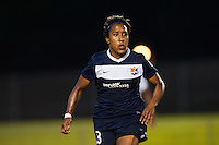 Sky Blue FC defender Rachel Breton (28). Sky Blue FC defeated the Washington Spirit 1-0 during a National Women's Soccer League (NWSL) match at Yurcak Field in Piscataway, NJ, on July 6, 2013.