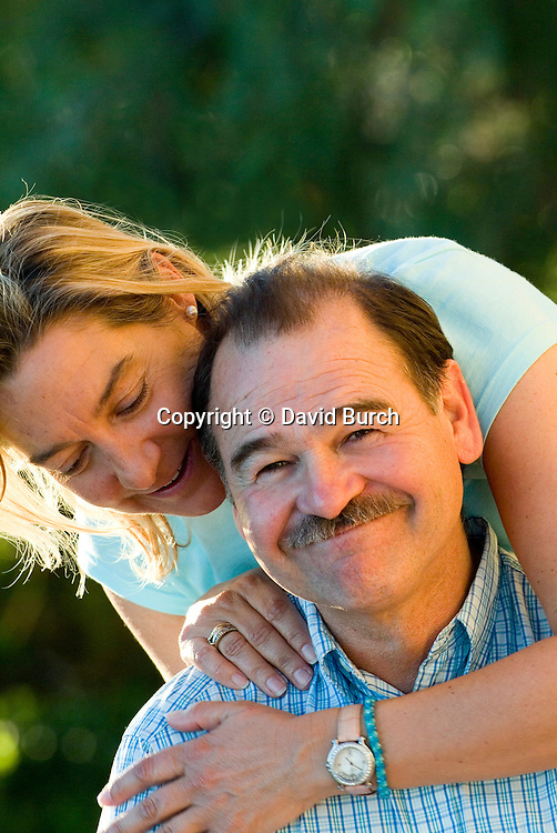 Husband and wife, portrait, smiling