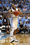 06 November 2015: North Carolina's Nate Britt. The University of North Carolina Tar Heels hosted the Guilford College Quakers at the Dean E. Smith Center in Chapel Hill, North Carolina in a 2015-16 NCAA Men's Basketball Exhibition game. UNC won the game 99-49.