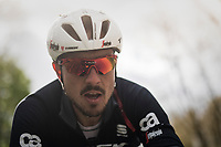 John Degenkolb (DEU/Trek-Segafredo) up close during training.<br /> <br /> Team Trek-Segafredo during their 2017 Paris-Roubaix recon, 3 days prior to the event.