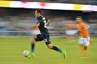 San Jose, CA - Saturday September 16, 2017: Marco Ureña during a Major League Soccer (MLS) match between the San Jose Earthquakes and the Houston Dynamo at Avaya Stadium.