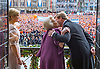 "30.04.2013; Amsterdam: KING WILLEM-ALEXANDER RECEIVES A KISS FROM HIS MOTHER QUEEN BEATRIX WHILE QUEEN MAXIMA LOOKS ON,.on the balcony of the Royal Palace after the Abdication, Amsterdam, The Netherlands..Mandatory Credit Photos: ©Meyde/NEWSPIX INTERNATIONAL..**ALL FEES PAYABLE TO: ""NEWSPIX INTERNATIONAL""**..PHOTO CREDIT MANDATORY!!: NEWSPIX INTERNATIONAL(Failure to credit will incur a surcharge of 100% of reproduction fees)..IMMEDIATE CONFIRMATION OF USAGE REQUIRED:.Newspix International, 31 Chinnery Hill, Bishop's Stortford, ENGLAND CM23 3PS.Tel:+441279 324672  ; Fax: +441279656877.Mobile:  0777568 1153.e-mail: info@newspixinternational.co.uk"