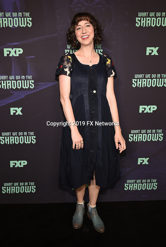 "HOLLYWOOD - MAY 22: Moderator Kristen Schaal attends FX's ""What We Do in the Shadows"" FYC event at Avalon Hollywood on May 22, 2019 in Hollywood, California. (Photo by Frank Micelotta/FX/PictureGroup)"