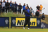 Graeme McDowell (NIR) on the 9th tee during the preview of the the 148th Open Championship, Portrush golf club, Portrush, Antrim, Northern Ireland. 17/07/2019.<br /> Picture Thos Caffrey / Golffile.ie<br /> <br /> All photo usage must carry mandatory copyright credit (© Golffile | Thos Caffrey)