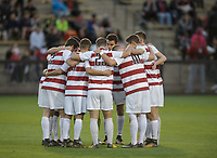 Stanford, Ca - Sunday, November 5, 2017: Stanford Men's Soccer Team  during a Stanford men's soccer match against San Diego State at Maloney Field.
