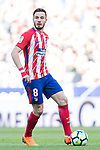 Saul Niguez Esclapez of Atletico de Madrid in action during the La Liga 2017-18 match between Atletico de Madrid and Athletic de Bilbao at Wanda Metropolitano  on February 18 2018 in Madrid, Spain. Photo by Diego Souto / Power Sport Images