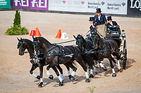 GOLD MEDAL: AUS-Boyd Exell. The FEI World Individual Driving Championship - Medal Ceremony. 2018 FEI World Equestrian Games Tryon. Sunday 23 September. Copyright Photo: Libby Law Photography
