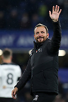 Derby County Assistant Manager, Jody Morris, waves at the Chelsea fans at the end of the match during Chelsea vs Derby County, Caraboa Cup Football at Stamford Bridge on 31st October 2018