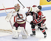 Corinne Boyles (BC - 29), Kendall Coyne (Northeastern - 77) - The Northeastern University Huskies defeated the Boston College Eagles in a shootout on Monday, January 31, 2012, in the opening round of the 2012 Women's Beanpot at Walter Brown Arena in Boston, Massachusetts. The game is considered a 1-1 tie for NCAA purposes.