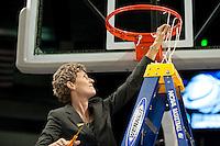 SPOKANE, WA - MARCH 28, 2011: Coach Amy Tucker, Stanford Women's Basketball vs Gonzaga, NCAA West Regional Finals at the Spokane Arena on March 28, 2011.