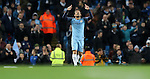 David Silva of Manchester City celebrates the second goal during the English Premier League match at The Etihad Stadium, Manchester. Picture date: December 12th, 2016. Photo credit should read: Lynne Cameron/Sportimage