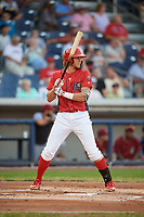 Williamsport Crosscutters designated hitter Alec Bohm (5) at bat during a game against the Mahoning Valley Scrappers on August 28, 2018 at BB&T Ballpark in Williamsport, Pennsylvania.  Williamsport defeated Mahoning Valley 8-0.  (Mike Janes/Four Seam Images)